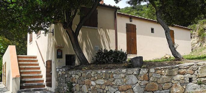 Caratteristico casale all'Isola d'Elba