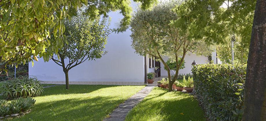 La casa con un vero giardino